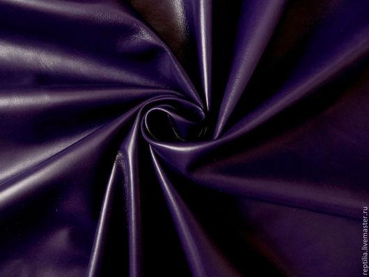 """Шитье ручной работы. Ярмарка Мастеров - ручная работа. Купить Натуральная кожа """"Темный Фиолет""""! Мягкая овчина!. Handmade. Кожа"""