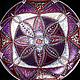 Тарелки ручной работы. Тарелка декоративная с росписью Magenta-Silver. MILA. Интернет-магазин Ярмарка Мастеров. Тарелка декоративная