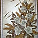 """Картины цветов ручной работы. Ярмарка Мастеров - ручная работа. Купить """"Ностальгия""""  Авторская картина из натуральной кожи. Handmade. Бежевый"""