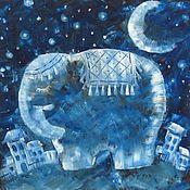 """Картины и панно ручной работы. Ярмарка Мастеров - ручная работа Картина маслом """"Добрых снов"""". Handmade."""