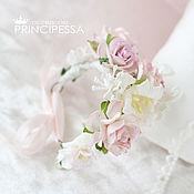 """Свадебный салон ручной работы. Ярмарка Мастеров - ручная работа """"Розовая изящность"""" браслетик подружки невесты. Handmade."""