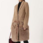 Одежда ручной работы. Ярмарка Мастеров - ручная работа Пальто с мехом. Handmade.