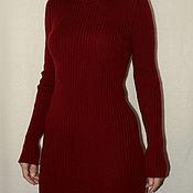 Одежда ручной работы. Ярмарка Мастеров - ручная работа Платье связанное резинкой полушерстяное. Handmade.