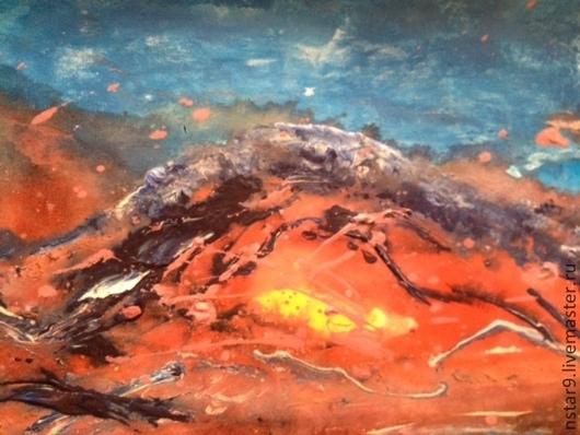 Абстракция ручной работы. Ярмарка Мастеров - ручная работа. Купить праздничный вулкан. Стихия огня.. Handmade. Ярко-красный