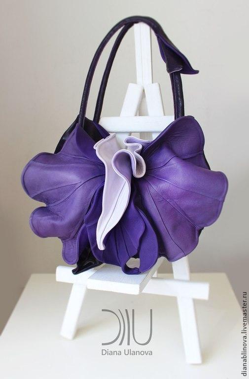 Женские сумки ручной работы. Ярмарка Мастеров - ручная работа. Купить Орхидея new. Handmade. Красивая сумка, кожа натуральная