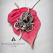 """Украшения ручной работы. Ярмарка Мастеров - ручная работа СКИДКА Кулон из серебра """"Red heart"""". Handmade."""