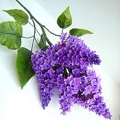 Цветы и флористика handmade. Livemaster - original item Lilac from cold porcelain. Handmade.