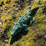 Для дома и интерьера ручной работы. Ярмарка Мастеров - ручная работа Зеленый крокодил Садовый, ручной). Handmade.