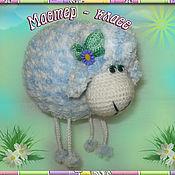 Материалы для творчества ручной работы. Ярмарка Мастеров - ручная работа мастер-класс по игрушке овечка-подвеска. Handmade.
