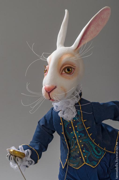 Коллекционные куклы ручной работы. Ярмарка Мастеров - ручная работа. Купить В Стране Чудес. Белый Кролик. Handmade.