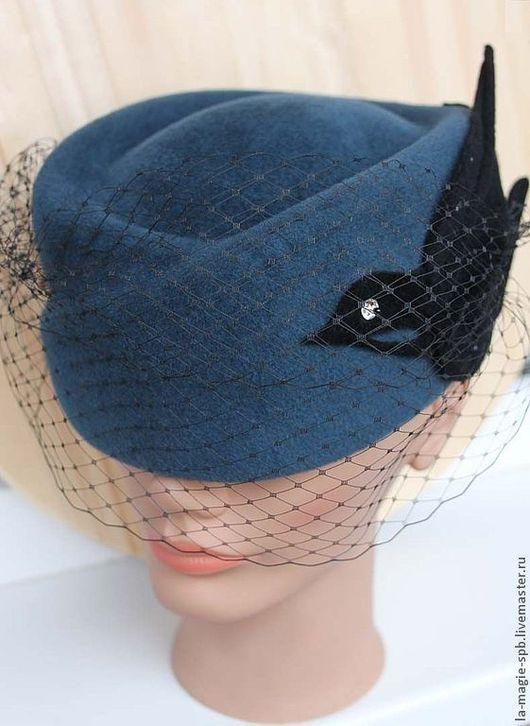 """Шляпы ручной работы. Ярмарка Мастеров - ручная работа. Купить Шляпка-таблетка """"Le vol de l'hirondelle"""" (Полёт ласточки). Handmade."""