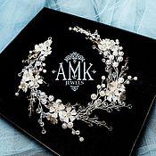 Украшения в прическу ручной работы. Ярмарка Мастеров - ручная работа Wedding wreath, floral bridal wreath. Handmade.