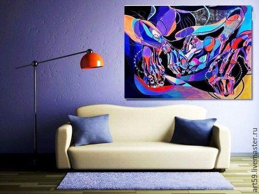 """Абстракция ручной работы. Ярмарка Мастеров - ручная работа. Купить Абстракция  """"В лабиринте"""". Handmade. Фиолетовый, абстракция, абстрактная картина"""