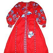 Одежда handmade. Livemaster - original item embroidered dress. Embroidery. Maxi dress. Hijab. Handmade.