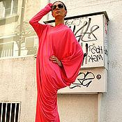 Платья ручной работы. Ярмарка Мастеров - ручная работа Платье розовое - туника (свободное летнее платье). Handmade.