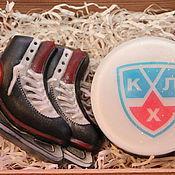 """Косметика ручной работы. Ярмарка Мастеров - ручная работа Набор мыла """"Трус не играет в хоккей"""". Handmade."""