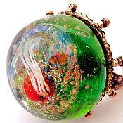 Украшения handmade. Livemaster - original item Ring lampwork Awakening. Handmade.