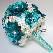 Свадебный салон ручной работы. Ярмарка Мастеров - ручная работа Свадебный брошь-букет Amina. Handmade.