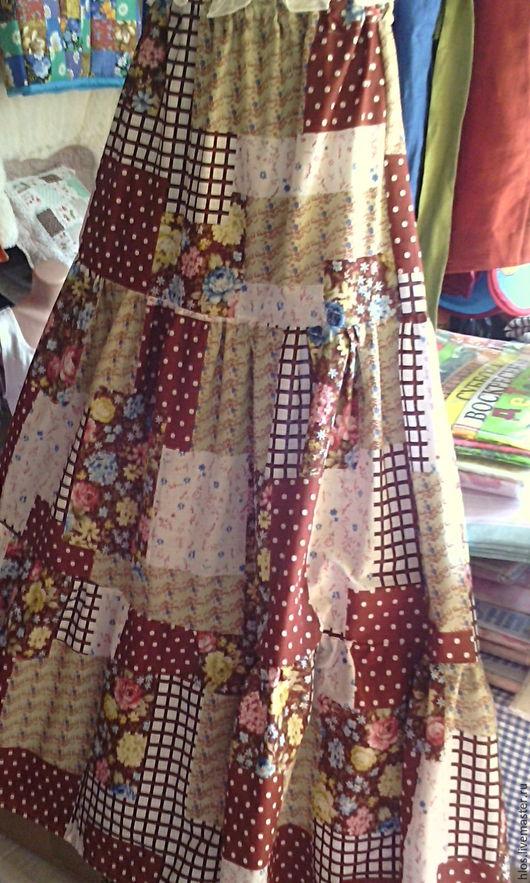 Юбки ручной работы. Ярмарка Мастеров - ручная работа. Купить ярусная летняя юбка в пол. Handmade. Комбинированный, для лета