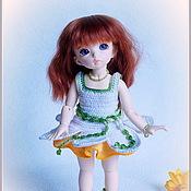Куклы и игрушки ручной работы. Ярмарка Мастеров - ручная работа Нарцисс - платье для куклы. Handmade.
