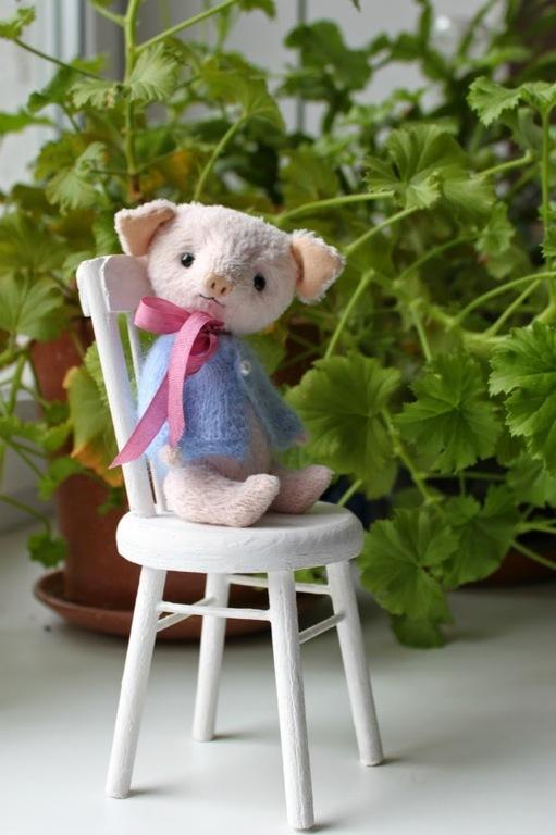 Мишки Тедди ручной работы. Ярмарка Мастеров - ручная работа. Купить Тедди Хрюшка - Друг Мишки Тедди. Кофточка в подарок!. Handmade.
