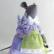 Куклы и игрушки ручной работы. Ярмарка Мастеров - ручная работа Мышка Лавандушка текстильная интерьерная игрушка. Handmade.