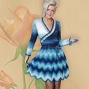 """Одежда ручной работы. Ярмарка Мастеров - ручная работа платье вязаное""""Джинс"""". Handmade."""