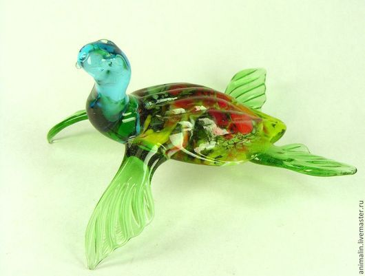 Figurines handmade. Livemaster - handmade. Buy the figure of the Great glass Sea Turtle.Turtle, glass