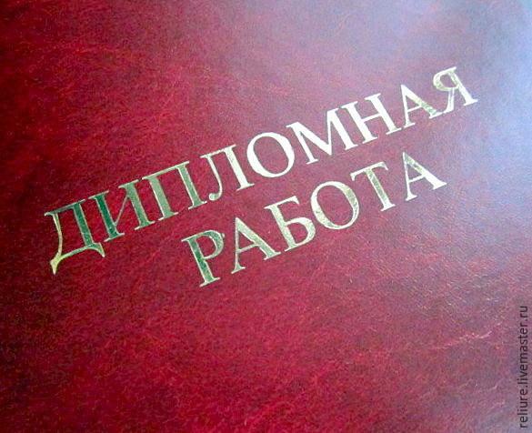 Папка Магистерская диссертация купить в интернет магазине на  Тиснение позолоченная `Дипломная работа`