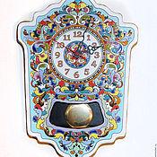 Для дома и интерьера ручной работы. Ярмарка Мастеров - ручная работа Часы декоративные,фаянсовые, с маятником,настенные.. Handmade.