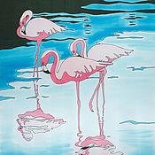 Аксессуары handmade. Livemaster - original item Scarf Flamingo. Handmade.