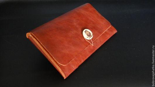 Папки для бумаг ручной работы. Ярмарка Мастеров - ручная работа. Купить Кожаный клатч кожа конверт для документов Сова Подарок женщине. Handmade.