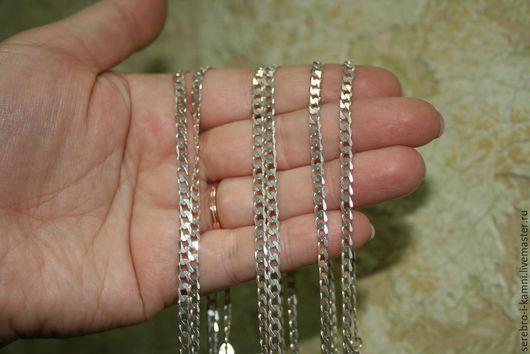Колье, бусы ручной работы. Ярмарка Мастеров - ручная работа. Купить цена снижена!!! Серебряные цепочки (длина 59 см, шир. 3,5 мм). Handmade.