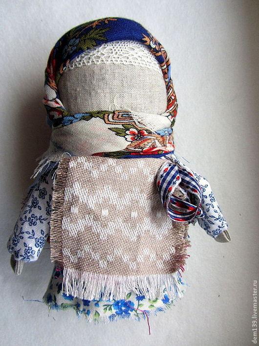 Народные куклы ручной работы. Ярмарка Мастеров - ручная работа. Купить Крупеничка народная кукла. Handmade. Тёмно-синий