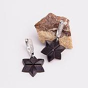 Украшения handmade. Livemaster - original item Wooden star earrings. Handmade.