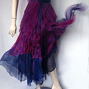 "Одежда manualidades. Livemaster - hecho a mano Wraparound skirt  boho style  ""Mirage"". Handmade."