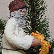 Куклы и игрушки ручной работы. Ярмарка Мастеров - ручная работа Сказка о золотой рыбке 2 -ватная елочная игрушка. Handmade.