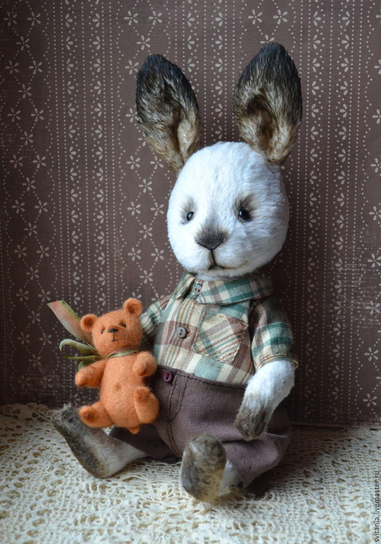 коллекционные зайцы в стиле тедди