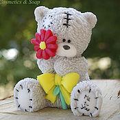 """Мыло ручной работы. Ярмарка Мастеров - ручная работа Мыло ручной работы  """"Мишка Тедди с цветком"""". Handmade."""