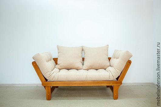 Мебель ручной работы. Ярмарка Мастеров - ручная работа. Купить Диван Slamber. Handmade. Бежевый, сосна, массив сосны