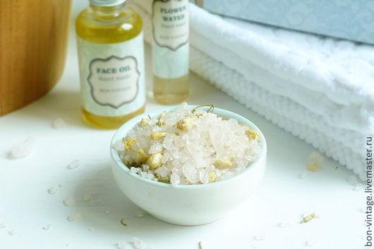 Соль для ванны ручной работы. Ярмарка Мастеров - ручная работа. Купить Жасмин - соль для ванны. Handmade. Белый, аромат жасмина