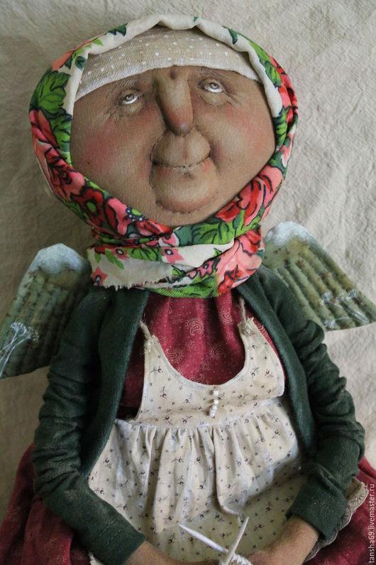 Коллекционные куклы ручной работы. Ярмарка Мастеров - ручная работа. Купить Я свяжу тебе жизнь.... Handmade. Комбинированный, бабушка