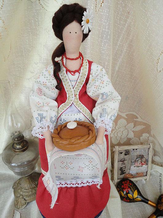 Куклы Тильды ручной работы. Ярмарка Мастеров - ручная работа. Купить Кубанская казачка. Handmade. Ярко-красный, хлопок