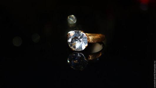 Винтажные украшения. Ярмарка Мастеров - ручная работа. Купить Кольцо с кристаллом.21 размер. Handmade. Золотой, кольцо с камнем