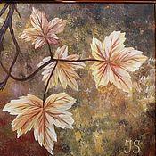 """Картины и панно ручной работы. Ярмарка Мастеров - ручная работа Картина """"Кленовые листья"""". Handmade."""