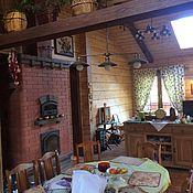 Для дома и интерьера ручной работы. Ярмарка Мастеров - ручная работа Шторы для загородного дома. Handmade.