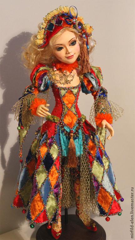 Коллекционные куклы ручной работы. Ярмарка Мастеров - ручная работа. Купить Мирандолина. Handmade. Кукла ручной работы, подарок
