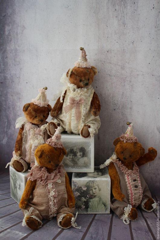 Мишки Тедди ручной работы. Ярмарка Мастеров - ручная работа. Купить Винтажные мишки 14см. Handmade. Коричневый, teddy bear