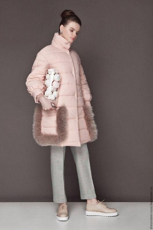 Верхняя одежда ручной работы. Ярмарка Мастеров - ручная работа. Купить Пальто с карманами. Handmade. Бледно-розовый, пальто женское