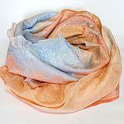 Аксессуары handmade. Livemaster - original item felted scarf Summer sunset. Handmade.